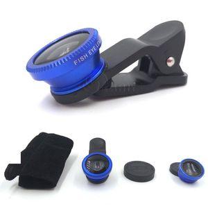 Универсальный объектив Рыбий глаз 3 в 1 мобильный телефон клип линзы рыбий глаз широкоугольный объектив макро камеры для смартфона iPhone 6 микроскоп