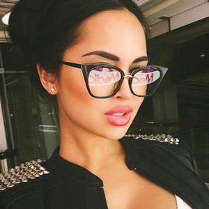 Rebite olho de gato Óculos Transparentes Óculos de Moda Clara Falso Óptico Óculos de Armações de Óculos Para As Mulheres Miopia Óculos De Vidro das Mulheres Óculos