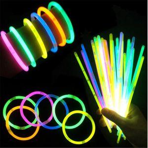 Glow Stick Party LED Flashing Light Stick Multi Color Novelty Bracelet Necklaces Wand Novelty Toy LED Vocal Concert LED Flash Sticks