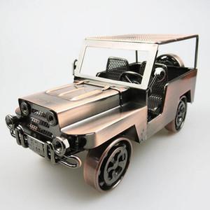 Handgefertigte Iron Art Retro Jeep Geländewagen Simulation Automodell Spielzeug - Sammlung Metall Auto Diecast Modellautos Spielzeug für Männer Kinder