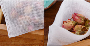 1000 Pz / lotto 5 x 6 CM Calore di Vuoto Vuoto Tessuto non tessuto Bustine di Tè Allentato Tè Infusore Setaccio Da Tè Caffè Spezie spedizione gratuita TY2144