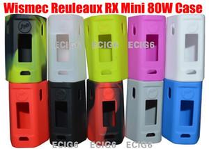 Pour Wismec Reuleaux RX Mini 80W E cigarette électronique Etui en silicone Couverture de la peau Sac Poche Pochette Accessoires Boîte