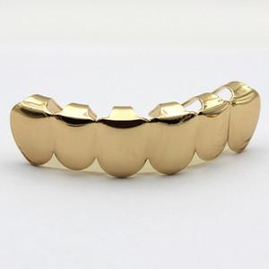 Мода Ювелирные Изделия Дешевой Цене Настоящее 18 К Позолоченные HIPHOP Зубы Grillz ТОП или ВНИЗ Одноместный Гриль Cap