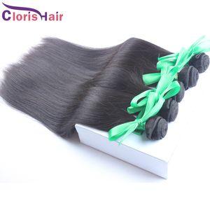Hızlı 1 Bundle Silky Nakliye Düz İşlenmemiş ham Hint Bakire İnsan Saç Dokuma Ucuz Hint Saç Uzantıları Ombre Dip Boya DIY, 100g / adet