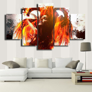 Framed 5 Panels Canvas Print Painting Modern Canvas Wall Art for Wall Pcture Home Decor Artwork -- Beautiful picture#053