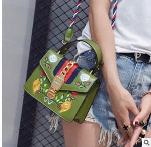 As bolsas de marcas famosas mulheres saco Bordado franja crossbody alça de ombro bolsa de couro designer de luxo top-handle sacos