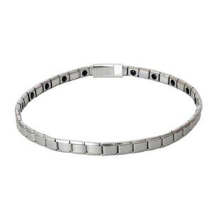 Бесплатная доставка посеребренные 9 мм цепи здоровья магнитное Ожерелье для женщин мужчины 38/40/42 см из нержавеющей стали звено цепи ожерелья мужчины колье