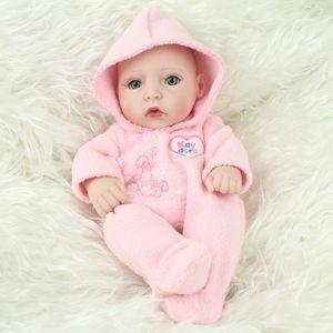 28 cm Reborn Baby Girl Simulação Boneca Realista Silicone Macio Vinil Bebê Recém-nascido Bonecas Criança Crianças Aniversário Toy Presente