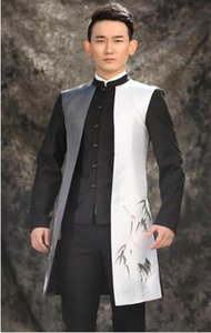 men long suits designs chinese stylestage costumes for singers men blazer dance clothing long sleeve man formal dress punk