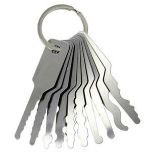 10pcs 자동차 Jipplers 더블 양면 잠금 피크 Jigglers 자동 Jigglers 잠금 도구를 자물쇠 도구 무료 배송