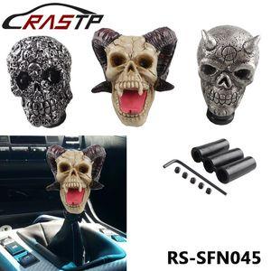 RASTP-frete grátis Car personalizado Mudança Esculpido Knob Crânio humano principal do carro Vara de engrenagem Shifter Knob LS-SFN045