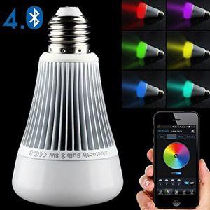 Multi-função Bulb Mi Luz Bluetooth E27 85 ~ 265V 8W Inteligente Led Lamp RGB Branco / cool branco / branco quente LED Spot Light