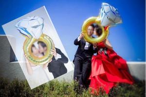 Globo matrimonio boda amante, Diamond globo novia anillo de compromiso de láminas Valentine Balloons Party los juguetes con alta calidad