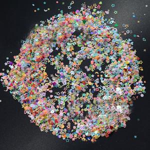 Красочное маникюр с блестками конфетти для свадеб Смешанных форм Размера 3мм Отлично подходит для партии Décor, DIY ремесел, премиум Nail Art Etc ..