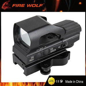 FIRE WOLF QD Quick Green Red Dot Sight Tactical Metal Holographic 4 Reticle Hunting Sight para 20mm Rail Picatinny Rail Scope