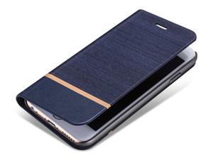 Alta qualidade calças de brim de lona pu couro celular stand case com slots de cartão para xiaomi redmi note 2 prime