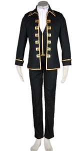 Kukucos Anime Gintama Cosplay Costume-Shin Sen Gu Mi Captain 5Pcs Set Halloweeen Party Dress Up