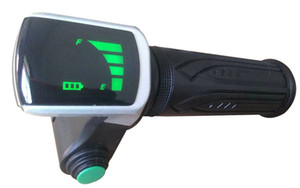 twist throttle Rolling grips with led display&cruise switch accelerator for electric bike scooter with batterylevel indicator tricycle handl
