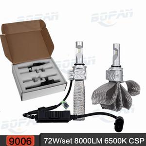 도매 9006 / HB4 8000LM 72W 6500K 자동차 LED 헤드 라이트 유연한 구리 벨트 안개 램프 CSP 단일 빔 전조 등 12v 24v 4x4 4WD