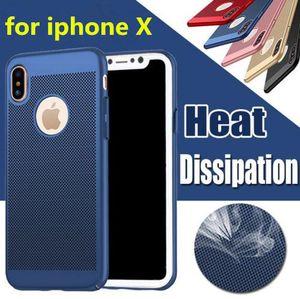 Ultra delgado disipación de calor Hollow caja del teléfono transpirable delgado PC duro contraportada para iPhone X XS MAX XR 8 7 6 Plus