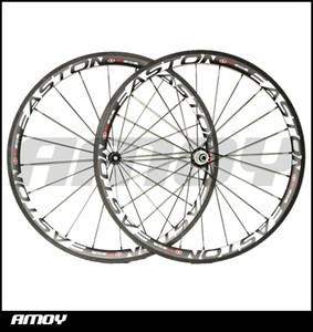 Spedizione gratuita 38mm Copertoncino 25mm larghezza ruote in carbonio con EST 90-SL pittura full carbon 700C wheelset bici da strada