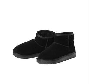 Бесплатная доставка 2017 высокое качество кожаные ботинки снега 7 цветов zapatos mujer ботильоны для женщин зимние сапоги botas Femininas зимняя обувь