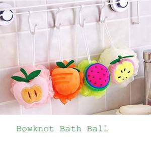 Großhandelsnettes Fruchtformwäscher-Bad-Badezimmer-Tuch-reizende Blumen-Bad-Kugel-Unebenheits-Bad-Bürsten-Schwämme FA5-13L
