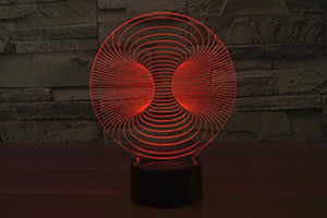 추상 오목 공 3D 나이트 라이트 7 색 변경 LED 테이블 램프 어린이위한 크리스마스 장난감 선물