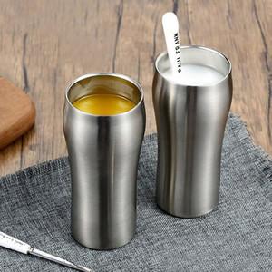 430 ml de acero inoxidable taza de cerveza grande doble pared taza de cerveza de acero inoxidable taza de café con vacío Drinkware ZA3277