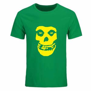 Rock And Roll Date Cerveau Misfits Crâne T-shirts Hommes Casual Tee-Shirts Imprimé À Manches Plus La Taille Camisas Multi couleur en option DIY-0162D