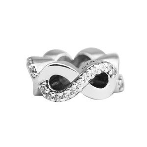 Infinite Love & Clear CZ 2017 Mother's Day 100% 925 Sterling Silver Bead Fit Pandora Bracelet Authentic DIY Fashion Jewelry