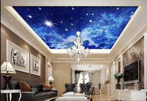 침실 용 패션 장식 가정 장식 현대 스테레오 하늘 천장 벽지 3D ceiling murals wallpaper