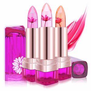 2018 영양가있는 립스틱 온도 변화된 색조 모이스처 라이저 플라워 과일 향미료 립 밤 립 메이크업 립스틱