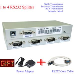 trasporto libero 1 in 4 out RS232 splitter VGA Video Switch Splitter PC Selector Immagine Distributore RS232 di controllo seriale
