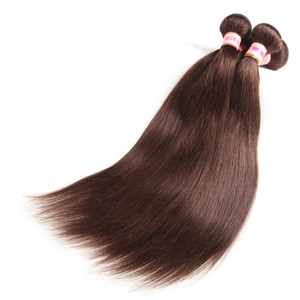 En gros Top Qualité Peruvian Virgin Bundles de cheveux humains Body Wave / Extensions de cheveux raides Pure Natural Color # 2 # 27 # 99J # 30