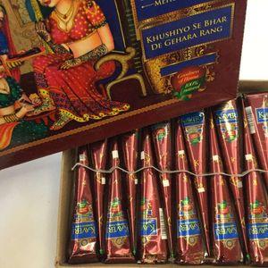 Tatouages Au Henné 25g Brun Tatouage Au Henné Naturel Indien KAVERI Body Art Tatouages Pâte Corps Dessin Peinture Fournitures Haute Qualité