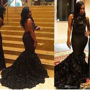 Günstige Schwarz Abendkleid Neue Ankunft Sexy Meerjungfrau Backless Saudi-Arabien Dubai Lange Abendgesellschaft Kleid Nach Maß Plus Größe