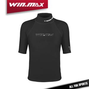WINMAX Ropa de Surf Short Trajes de Buceo Camiseta Rash Guard Hombres Mangas Cortas Traje de Baño Lycra Rash Guard For Men Surf Shirt