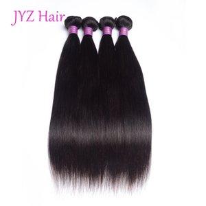 페루 Virgin Stright 인간의 머리 직조 번들 처리되지 않은 인도 말레이시아 브라질 자연 색상 인간의 머리카락 4 개 머리 Wefts 확장