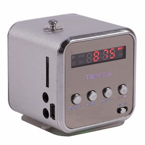 Freeshipping-Lautsprecher Mini Digital LCD-Sound Tragbarer Musik-Player Micro SD / TF FM Radio USB TF-Kartenlautsprecher-Musik-Player Mini-Lautsprecher