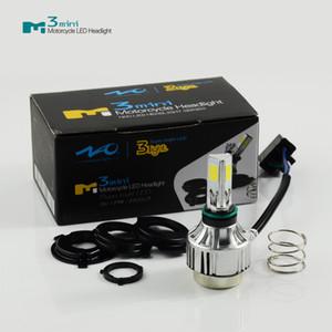 Светодиодная фара для мотоцикла H6 H4 Комплект BA20D светодиодные лампы белого (янтарного цвета) COB Светодиодная фара для мотоцикла Hi-Fi Привет ближний свет, комплект для переоборудования 25 Вт