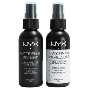 NYX Dewy Finish Mate Acabado de maquillaje Spray de ajuste de larga duración Spray de ajuste 60ML Face Beauty Envío de DHL