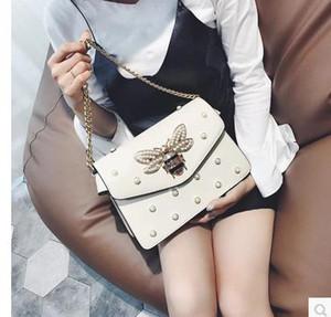 Завод Марка сумочка прекрасный горный хрусталь цепи сумка элегантная женщина bee pearl декоративные кожаные сумки на ремне женщины сумка небольшой свежий жемчуг весна