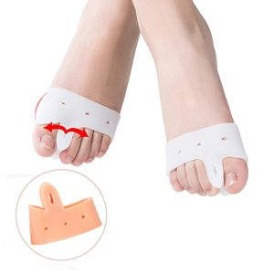 10 pcs Silicone Massagem Palmilha Ortopédicos Toe Separators Metatarsal Almofada Macia Antepé Pad Cuidados Com Os Pés Palmilhas Brancas