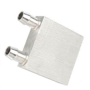Бесплатная доставка 3 шт. / лот 40*40 мм первичный алюминиевый блок водяного охлаждения для жидкой воды охладитель теплоотвода системы серебро использовать для ПК ноутбук CPU