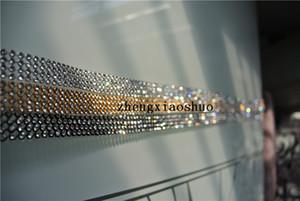4 개 120cm (46inch) 길이 4 행 다이아몬드 리본 트림 라인 석 크리스탈 블링 트림 웨딩 케익 장식 웨딩 장식 용품