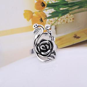 الأزياء والمجوهرات 925 الفضة والمجوهرات التجارة الخارجية أوروبا وأمريكا الورود الجديدة السيدات الرجعية حلقة صالح باندورا الإبداعية