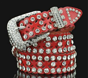 New style belt diamond crystal belts women pearl Waist belt gorgeous crystal shiny belts cowskin designer belts women girls waist belt