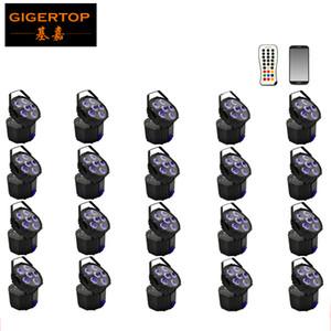رخيصة سعر الوحدة 20 هايت نوعية WIRELESS DMX بطارية تعمل بالطاقة LED PAR ضوء الأشعة فوق البنفسجية RGBWA 6in1 6X18W FLAT PAR قابل للقفل القوس