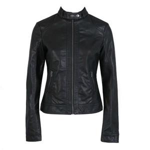 Women's Leather Jacket PU Leather Motorcycle Jacket fashion Jacket Slim Women'Soft Leather Large Size XS-XXXL